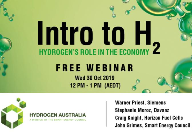 Hydrogen Australia webinar